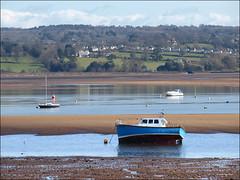 Low tide (ExeDave) Tags: uk england river landscape boats march estuary devon gb lowtide yachts spa exmouth sandbank mudflat 2012 waterscape exe blueboat starcross eastdevon exeestuary sssi teignbridge ramsarsite p3065566