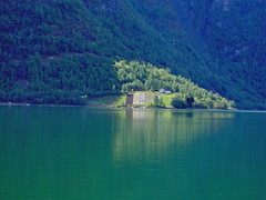 Harley Cruise to Norway (Paul F Gannon) Tags: trees norway reflections farm sognfjord