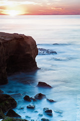 Sunset Cliffs (Eddie 11uisma) Tags: california travel sunset 2 vacation seascape beach canon landscape golden san long exposure mark diego cliffs filter hour nd 5d graduated cokin zpro