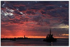 Blistering Sunset, Western Australia (Marc Russo (Australia)) Tags: sunset summer hot port boat ship harbour indianocean australia blister tugboat tug aussie fremantle westernaustralia