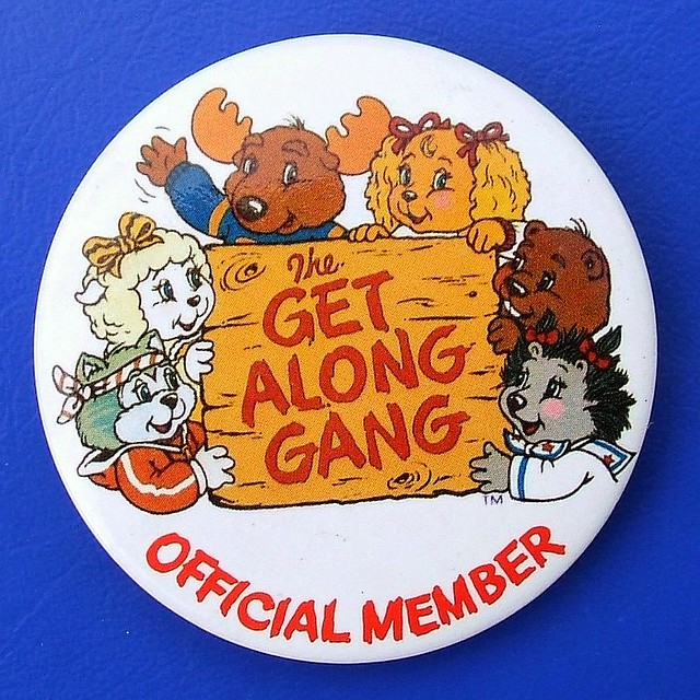 The get Along Gang - club membership badge (1980's)