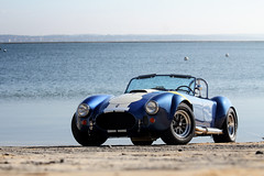 Spring is back! ([ JR ]) Tags: blue sun white france beach water car canon eos see ferret is spring cobra stripes jr racing bleu exotic cap american 200 427 shooting ac 70 blanc f4 v8 spotting arcachon bassin sighting backdraft aquitaine gironde 550d