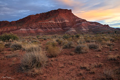 Old Paria ([Chris Tennant]) Tags: sunset southwest canon landscape utah desert badlands movieset kanab nationalmonument escalante grandstaircase paria oldparia christennantphotography