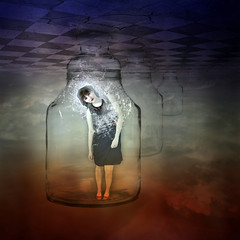To be free - is hard ... (E Dina PhotoArt) Tags: woman girl lost truth heaven himmel dreams subliminal edina heavenandhell breakfree freedome tobefree thinkforyourself theredpill freeyourmind himmelundhlle truthandillusion standupforyourrighttobehuman seetheunspoken nofingslave nomoreslave befreiungvonderillusiondesmaterialismusdurchsellbsterkenntnis
