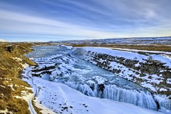 Waterfalls (iPh4n70M) Tags: white snow cold ice nature water montagne river iceland cool nikon eau falls fresh waterfalls neige nikkor blanc froid hdr deau torrent glace islande chutes glacial glac 2470mm 9xp rmountain arnessysla d700 9raw