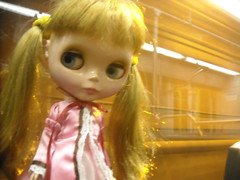 janie in a train tunnel
