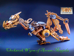 Clockwork Wyrm of Arcane Magicks - V&A Steamworks (V&A Steamworks) Tags: dragon lego magic dragons va dd steamworks dungeons moc wyrm