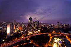 Singapore Flyer - Magnificient Sunset ! (Wang Guowen (gw.wang)) Tags: singapore nightscape esplanade mbs singaporeriver singaporeflyer marinabaysands marinabayfinancialcentre blinkagain marinaskypark gwwang wwwon9cloudcom