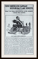 1899  April 13 - The First Horseless Carriage on Salt Lake Streets -  Winton Carriage Works  Cleveland Ohio (carlylehold) Tags: ohio opportunity robert car mobile vintage automobile er carriage o cleveland victorian email company smartphone join motor tmobile winton keeper signup haefner carlylehold solavei haefnerwirelessgmailcom