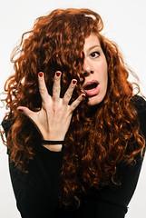 See Red 2.0 (Gabriele Perica) Tags: portrait fashion studio model hand finger redhead curly ricci openmouth ritratto hairs capelli rossa bestpic modella gabrielepe