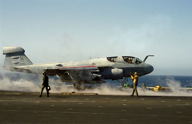 Grumman EA-6B Prowler to launch aboard the USS ENTERPRISE - 1984