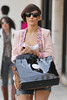 Frankie Sandford from The Saturdays shopping in Beverly Hills. During the shopping trip, Frankie purchased a vintage Louis Vuitton Case and a gift for mum to be Una from Tutu Los Angeles, California