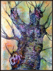 TREE BRANCH PAINTING (Louise001) Tags: tree art ink watercolor painting branch treebranch doodling spattering awardtree