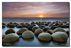Clustering, Bowling Ball Beach, Point Arena, CA (james wang photography - wangjam) Tags: sunset beach clouds bbb bowlingballbeachmendocinopointarenasolophotography