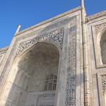 "Arch at Taj Mahal <a style=""margin-left:10px; font-size:0.8em;"" href=""http://www.flickr.com/photos/14315427@N00/6924651529/"" target=""_blank"">@flickr</a>"