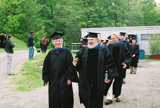 Professors Walking Along