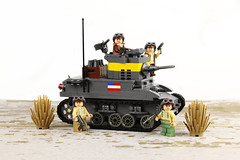 Ready to Shoot and Scoot (Florida Shoooter) Tags: tank lego ww2 usarmy m3a1stuartlighttank