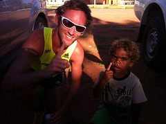 "Tim and a future IMP runner in Titjikala • <a style=""font-size:0.8em;"" href=""https://www.flickr.com/photos/64883702@N04/6971184288/"" target=""_blank"">View on Flickr</a>"