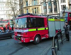 Fire and Rescue Dennis (kenjonbro) Tags: uk london trafalgarsquare lon dennis rapier 168 kenjonbro kentfireandrescueservice fujihs10 m96okj