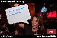 Attract top tech talent by (Dice.com) Tags: hiring sxsw attract hr sxswi buffalobillards mashable dicecom diceconnect mashsxsw