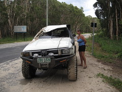Sorry Sight (Neil Pierce) Tags: australia queensland toyota sunshinecoast hilux cooloola crushedtoyota