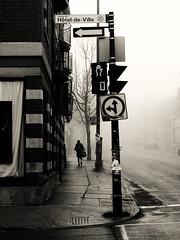 Ikiryō (Explored) (MomoFotografi) Tags: street city morning bw mist canada macro girl rain fog dark ed 50mm flickr day mood montréal quebec montreal foggy pluie atmosphere olympus explore québec f2 schoolgirl fr fille zuiko brouillard ville brume humid e5 moist humidité humide zd vapeur flickrexplore explored blackwhitephotos écolière fsuro ikirio ikiryō momofotografi