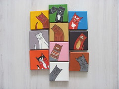 kiekeboeKAT !!!! (shethinksincolors) Tags: cats art home colors katten kat paintings kitty card greetingcard gatto gatti acrylics acryl schilderijen kleur kiekeboe sendasmile shethinksincolors