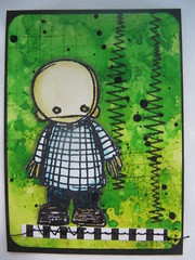 ATC for trade: Head (assicrafts) Tags: atc stampotique