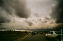 On the road again (Karim.H) Tags: road sky film analog 1 algeria nikon automobile again fujifilm 100 28 20mm f3 autoroute af nikkor expired nuages algrie karim argentique algiers on alger pellicule 2013 haddak reghaa