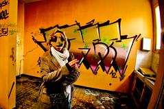 MA PSY EST UN CAMELEON EXTRATERRESTRE (nARCOTO) Tags: hospital graffiti graff mad hopital psychiatrie fou psy graffitis urbex asile hallu psychiatrique