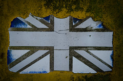 untitled-6624 (alechenderson) Tags: old uk colour rust britain character flag rustic tired worn loader