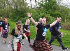 Kilt Walk (1789Photography) Tags: park charity bridge people smile scotland kilt walk glasgow scottish trail event dumbarton balloch kelvingrovepark clydebank dalmuir ballochcountrypark kiltwalk