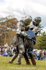 [2014-04-19@15.12.47a] (Untempered Photography) Tags: history costume fight helmet battle medieval weapon sword knight shield combat armour reenactment champions skirmish combatant chainmail canonef50mmf14 perioddress platearmour gambeson mailarmour untemperedeye canoneos5dmkiii untemperedeyephotography glastonburymedievalfayre2014