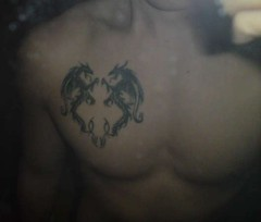 Tribal Aries With Dragons Chest Tattoo Ideas #156 (tattoos_addict) Tags: tattoo with chest dragons tribal ideas aries 156 dragontattoo dragontattoos