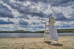 136/366 - Beach Rules (Ravi_Shah) Tags: beach clouds sony potd arrowhead hdr arrowheadlake lifegaurdstand a6000 cy365 aurorahdr