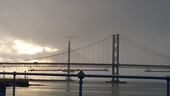 After the storm (tony.mac1@btinternet.com) Tags: road uk bridge sunset river scotland edinburgh crossing south bridges replacement scottish engineering stormy forth gb queensferry