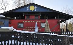 Arkville, New York (1 of 3) (Bob McGilvray Jr.) Tags: wood railroad red ny newyork train wooden tracks caboose cupola bb bedbreakfast arkville