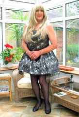 Goditutustnd (fionaxxcd) Tags: crossdressing tranny transvestite redlipstick crossdresser stilettoes trannie mtf m2f petticoats blacktights rednailslongblondehair