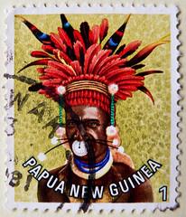 great stamp Papua New Guinea 1T (man with fascinator/headpiece  of province Chimbu / Simbu; headdress, coiffe, Kopfschmuck, головно́е украше́ние, adorno de la cabeza, 头饰) timbres Papouasie-Nouvelle-Guinée 우표 파푸아뉴기니 sellos Papúa Nueva Guinea selos Papua (stampolina, thx ! :)) Tags: man color colour colourful papuanewguinea farbe bunt headdress chimbu sellos simbu headpiece 巴布亚新几内亚 kopfschmuck 邮票 selos coiffe timbres fascinator frimærker francobolli postzegels 切手 papuanuovaguinea パプアニューギニア 우표 markica papouasienouvelleguinée 头饰 papoeanieuwguinea frimerker παπούανέαγουινέα papúanuevaguinea แสตมป์ ปาปัวนิวกินี papuanovaguiné postimerkit papuanowagwinea papuanyguinea 파푸아뉴기니 papuauusiguinea pullari γραμματόσημα znaczkipocztowe papuayenigine головно́еукраше́ние adornodelacabeza papuanovagvineja
