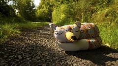 Sleeping cutie (Tunde Tenkei) Tags: cute nikon pretty decoration fox d200 doorstop stockimage giftware