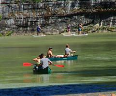 Leaving Ponca - Canoeists and Paddle Boarders on Buffalo River, Northwest Arkansas (danjdavis) Tags: canoes arkansas canoeists paddleboardersbuffaloriverbuffalonationalriver