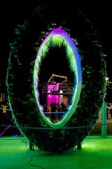 Vivid - as viewed through a hairy O (daniel_james) Tags: night sydney vivid australia nsw serendipity royalbotanicgardens 2016 canon1022mm