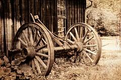 Heritage (catmccray) Tags: colorado historical littletonmuseum vintagewagonwheel topaztextures