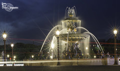 Lights (Lonely Soul Design) Tags: light paris water fountain golden long exposure trail concorde