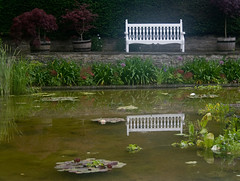 Take a seat (Caerphilly Keeper -AKA Nick) Tags: home rain gardens wales south cardiff edwardian 1920 dyffryn stately