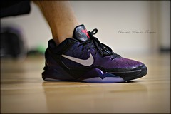 WDYWT 2-22-12 (Never Wear Them) Tags: blue black colors basketball court shoes purple you teal 7 nike wear changing kobe what cloak iridescent did bryant gym today iridescence vii mamba cloaks invisibility wdywt kobe7cloaks