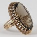 J11. Gold and Smoky Quartz Ring