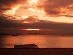 (Luis Diaz Devesa) Tags: blue trees red sea sky espaa naturaleza sun tree sol beach nature silhouette azul clouds landscape mar spain rojo rboles europa playa paisaje galicia galiza cielo nubes rbol silueta pontevedra riasbaixas carril vilagarciadearousa villagarciadearosa luisdiazdevesa