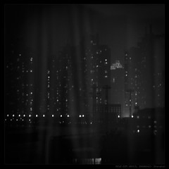 UNVEIL SHANGHAI (Denis F...) Tags: china city blackandwhite bw white black night square noir cityscape shanghai noiretblanc 中国 上海 nuit blanc ville chine carre