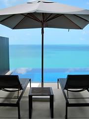 Koh Samui, Thailand (LAXFlyer) Tags: blue sea pool thailand hotel view chairs lounge resort kohsamui villa samui hotels koh resorts conrad azur hhonors